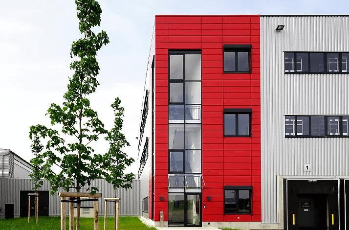 Pfosten-Riegel-Fassade Gebäude